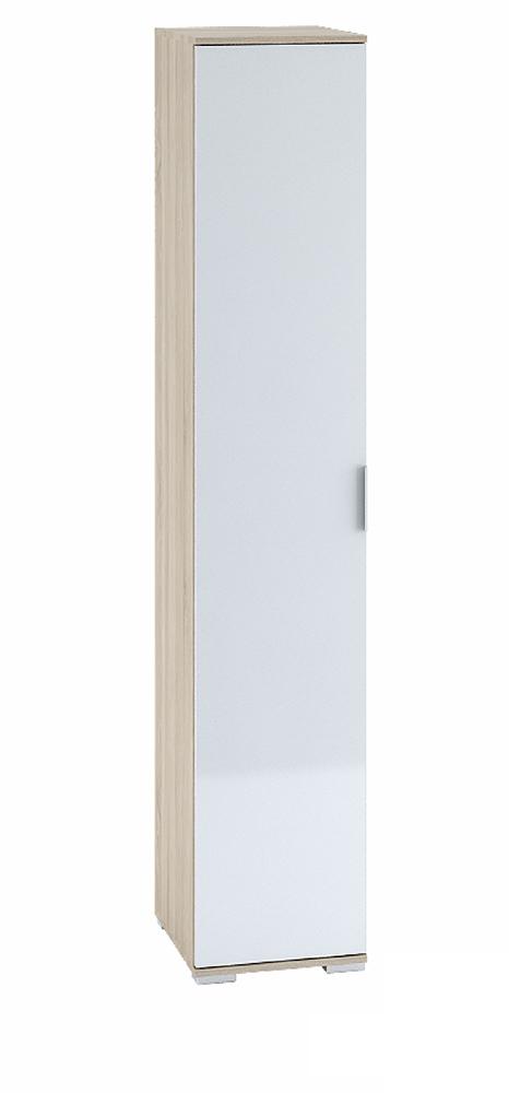 """Шкаф 1-створчатый с полками 400 """"Терра"""" (дуб сонома/белый глянец) ШК-821"""